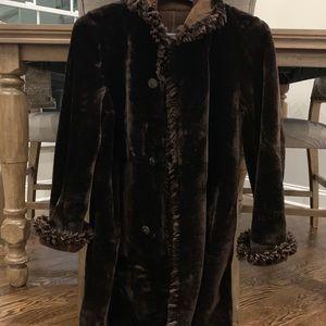 Beautiful Shearling Suede Reversible Fur Coat